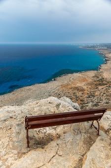 地中海沿岸の山頂からの美しい景色。