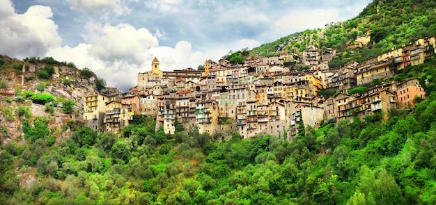 그림 같은 마을 saorge, alpes maritimes, 프랑스