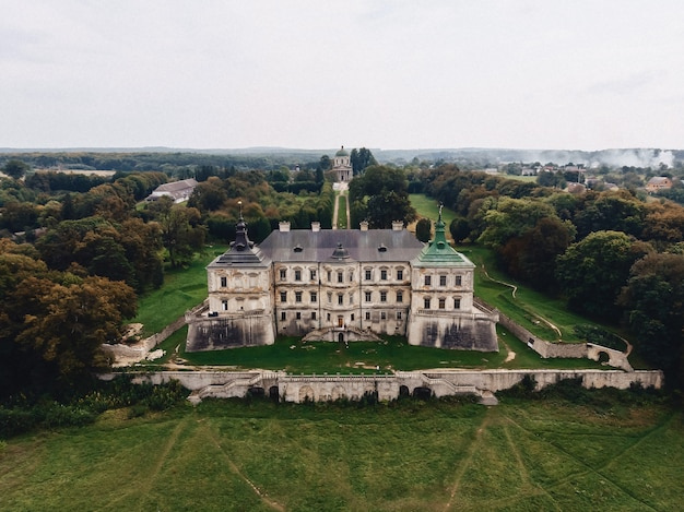 Pidhirtsi, ukraine, fortress, shooting from quadcopter, drone aerial