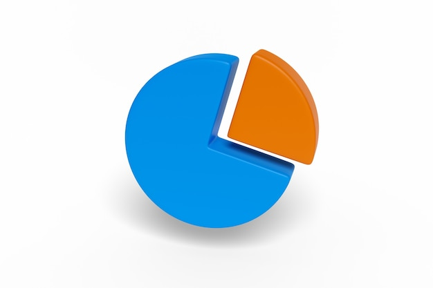 Pie chart isolated.
