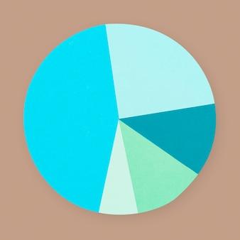 Elemento del mestiere della mano di affari di carta del grafico a torta
