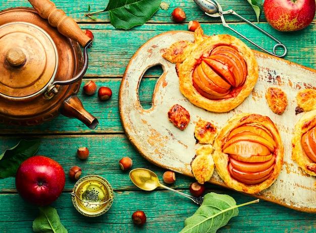 사과와 헤이즐넛 파이