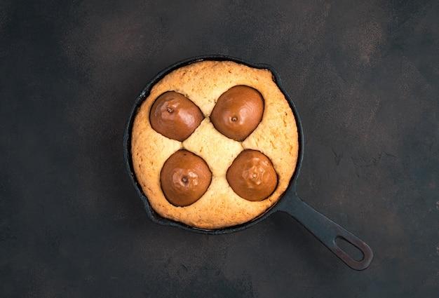 梨とパイ、上面図