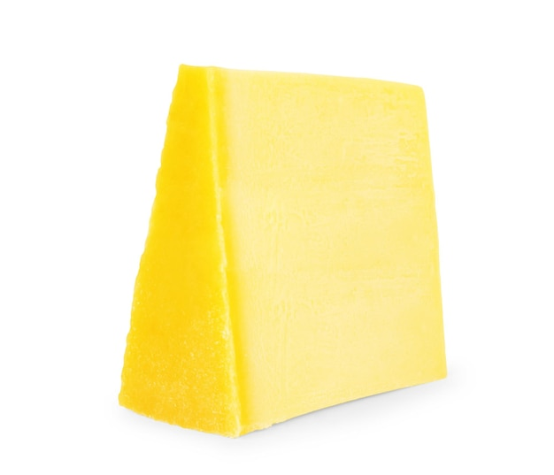Piece of cheese isolated