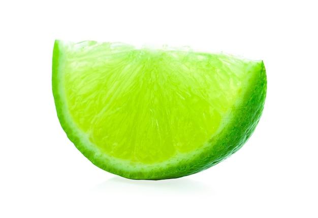 白い背景の上のピースレモン