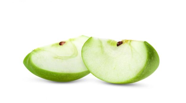 白で隔離される青リンゴの作品