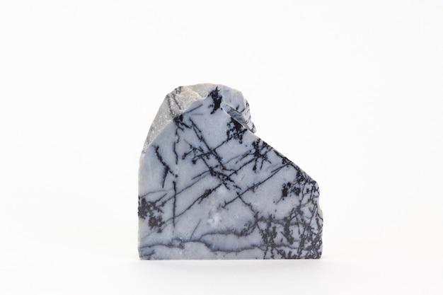 흰색 배경에 고립 된 대리석 조각