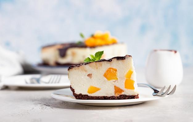 ノーベークアプリコットチーズケーキ