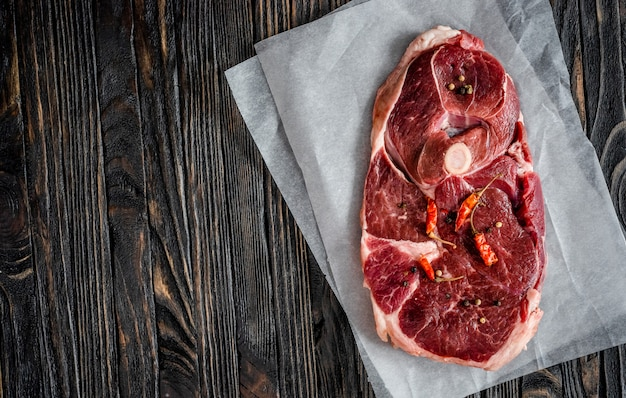 Piece of raw lamb meat