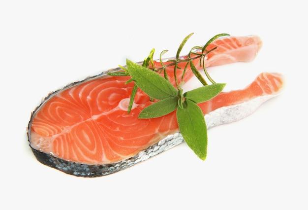Piece of raw salmon