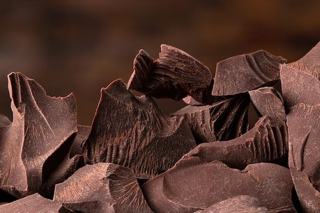 다크 초콜릿 조각