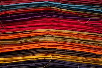 Pieces of fabric with different colors