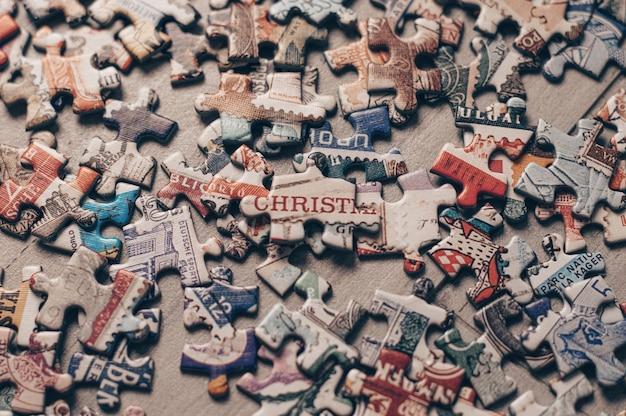 퍼즐 조각. 홈 보드 게임.