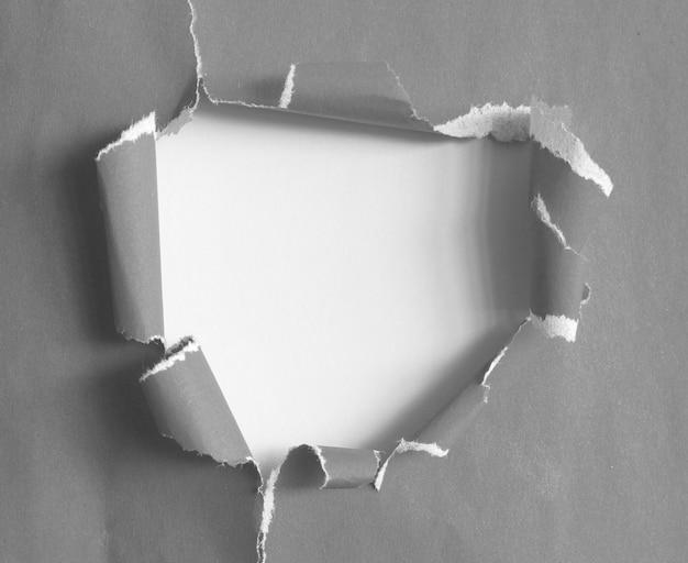 찢어진 종이 질감의 조각과 작업의 디자인을위한 복사 공간이 있습니다.