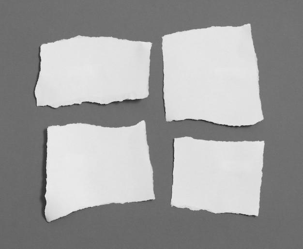 Кусочки рваной бумаги текстуры, копия пространства.