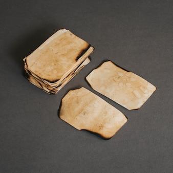 Pieces of retro paper