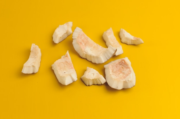 Pieces of white coconut