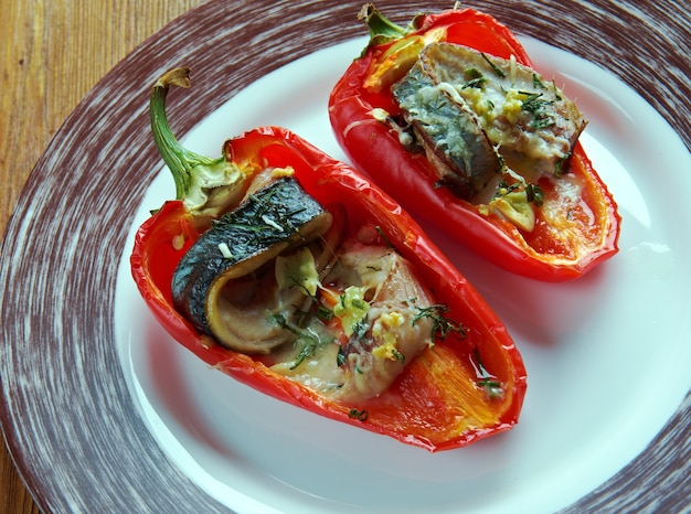 Piedmontese peppers - roast peppers for antipasto