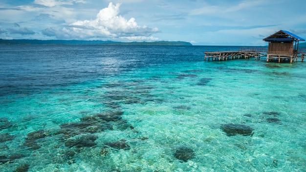 アルボレク島の桟橋-インドネシア、西パプアのラジャアンパット。