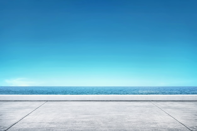 Pier with seascape view