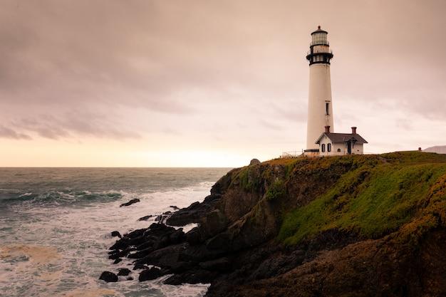 Pigeon lighthouse at the big sur coast, california