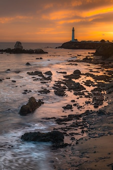 Pigeon point lighthouse, landmark of pacific coast