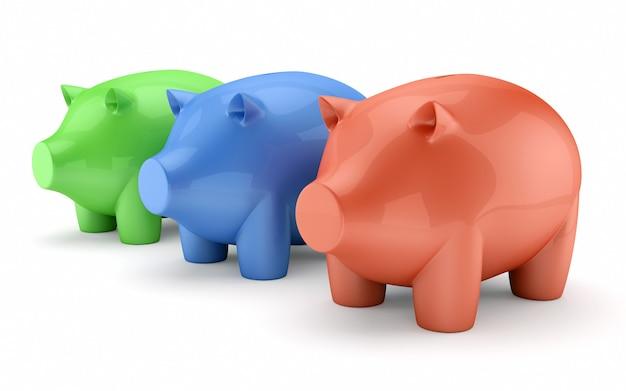 Piggy bank boxes set