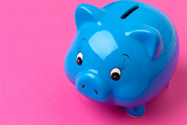 Piggy bank on color