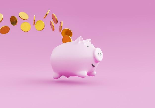 Копилка прыгает и роняет монеты