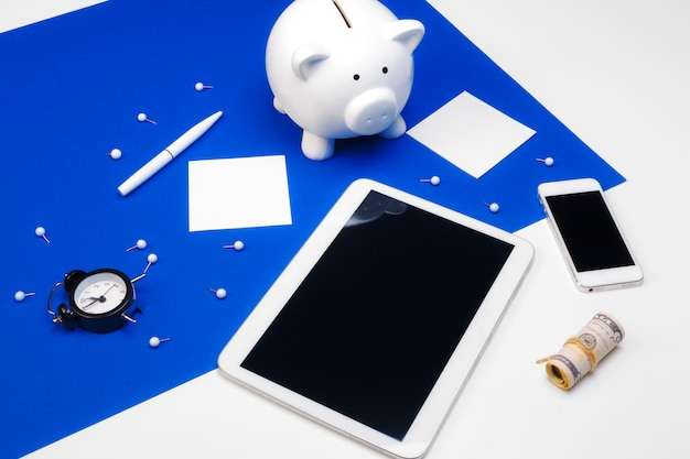 Piggy bank and modern devices