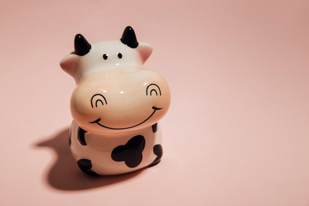 Piggy bank for money on a light background