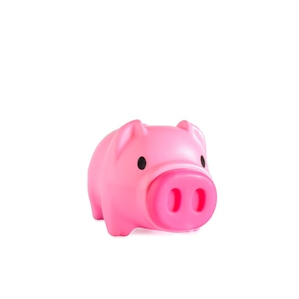 Piggy bank sale buy mall market shop consumer saving and budget concept.