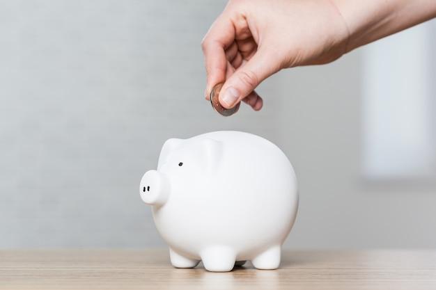 Piggy bank, savings, currency