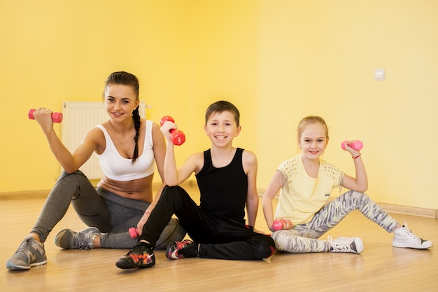 Pilates healthy active gym trainer Free Photo
