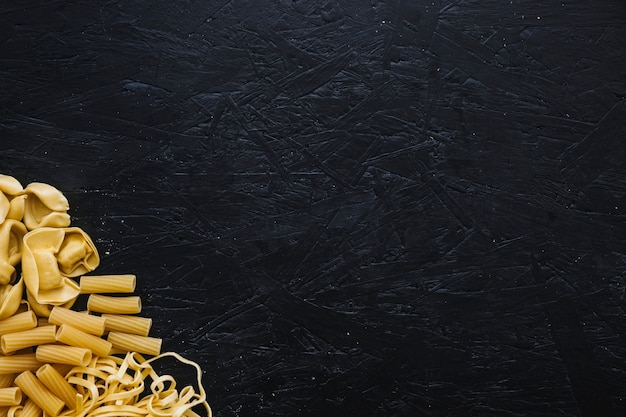 Pile of assorted pasta