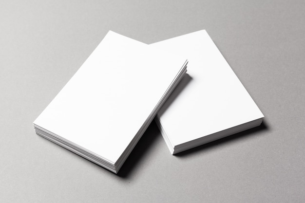 Pile of blank paper sheets, documents in a4 size