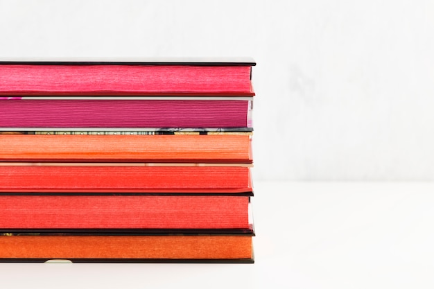 Pile of books with color stack