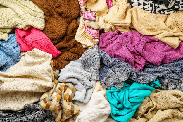 Pile of clothes background