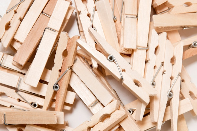 Pile of clothing pegs