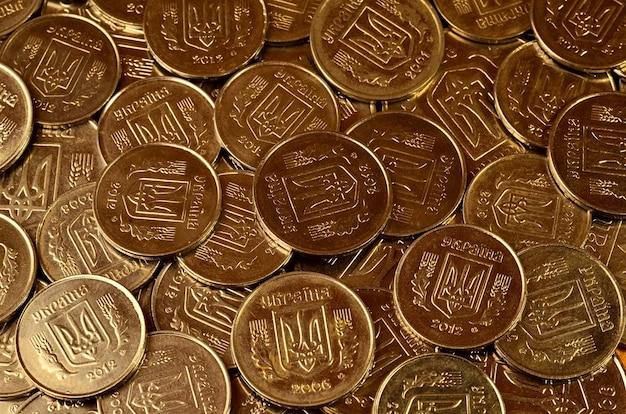 A pile of coins ukrainian