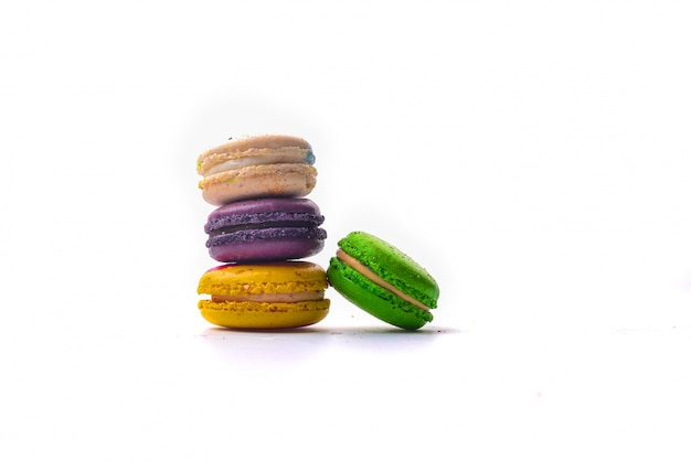 Pile of coloured macarons