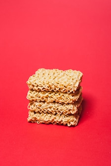 Pile of dried noodle