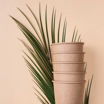 Pile of eco friendly cups