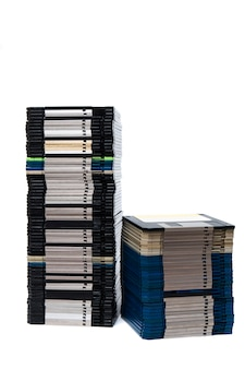 Pile of floppy disks