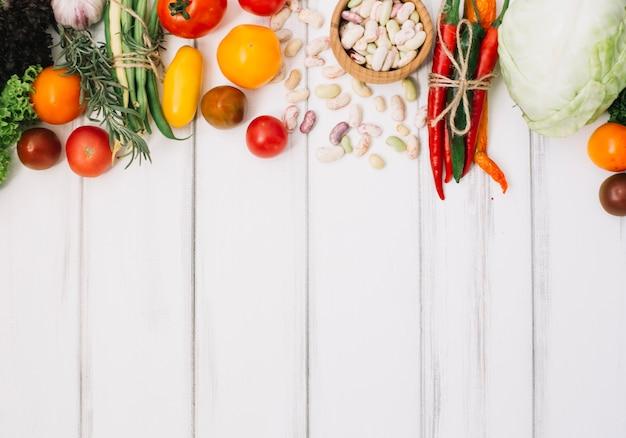 Pile of fresh vegetables