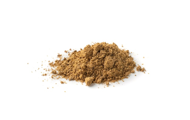 Pile of garam masala powder mix isolated