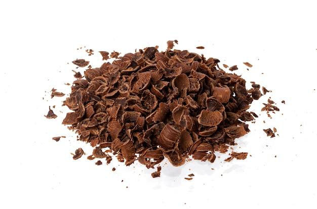Pile of ground chocolate