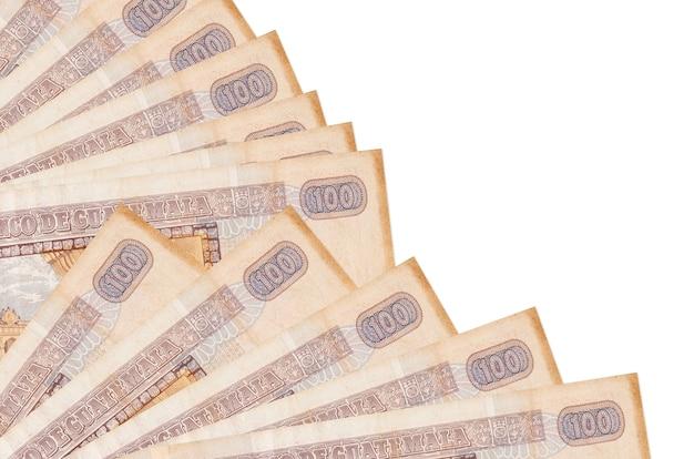 Pile of guatemalan quetzal bills