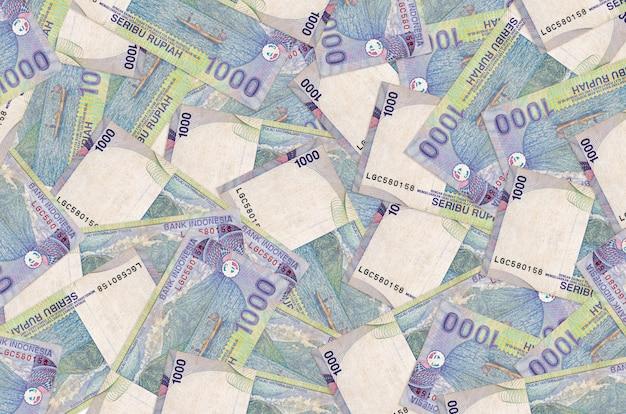 Pile of indonesian rupiah bills