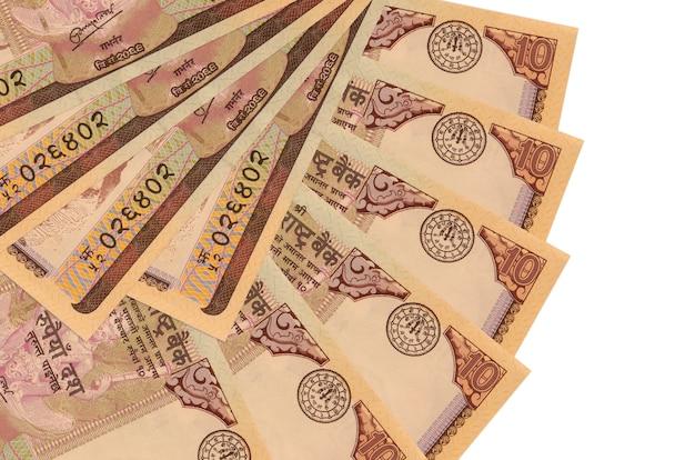 Pile of nepalese rupees bills